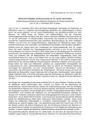 AHF-Information Nr. 107 vom 17.12.2001 Historische Debatten und ...