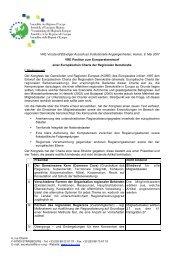 VRE Vorstand/Ständiger Ausschuss Institutionelle Angelegenheiten ...