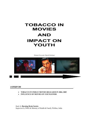 TOBACCO IN MOVIES AND IMPACT ON YOUTH - Smoke Free ...
