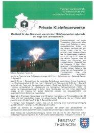 Private Kleinfeuerwerke - Stadt Nordhausen