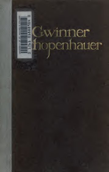 Arthur Schopenhauer aus persönlichem umgang dargestellt; ein ...