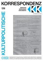 Ausgabe 1298 als PDF zum Download - Kulturportal West Ost