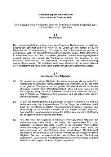 Wahlordnung 2009