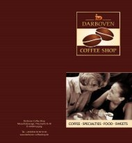 COFFEE · SPECIALTIES · FOOD · SWEETS