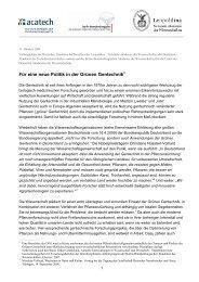 Stellungnahme Grüne Gentechnik - Leopoldina