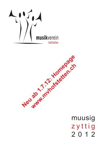 muusig z y t t i g 2 0 1 2 - Musikverein Hofstetten