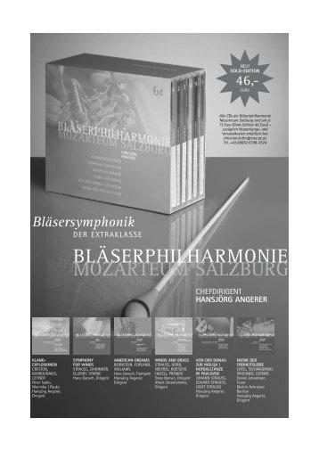 CDs der Bläserphilharmonie Mozarteum Salzburg Dirigent