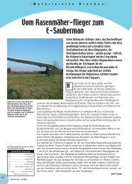 Vom Rasenmäher-flieger zum E-Sauberman - Flying-directory.com
