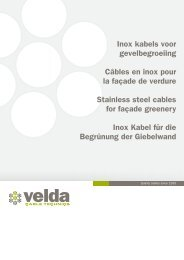 Inox kabels voor gevelbegroeiing Câbles en inox pour la façade de ...