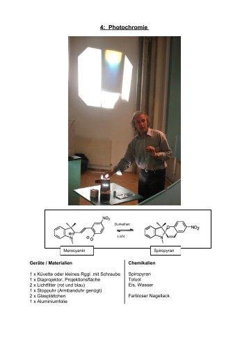 Photochromie - Chemie und ihre Didaktik, Universität Wuppertal