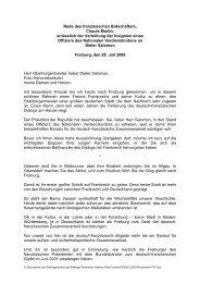 Rede des französischen Botschafters, Claude Martin, anlässlich der ...