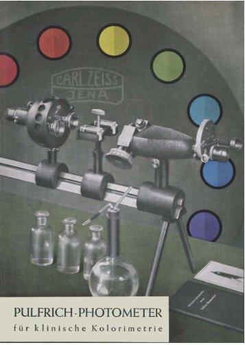 Pulfrich Photometer für klinische Kolorimetrie - Optik-Online
