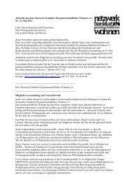 Nr.12 / Mai 2011 - Netzwerk Frankfurt für gemeinschaftliches ...