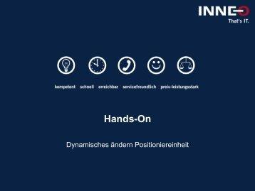 Dynamisches ändern Positioniereinheit - Inneo
