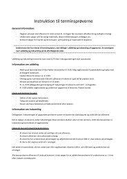 Instruktion til terminsprøverne - Dokumenter
