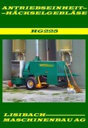 häckselgebläse hg225 - Lisibach Maschinenbau