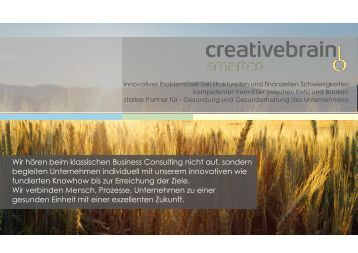 Flyer downloaden - creativebrain GmbH