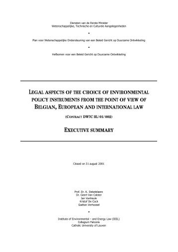 legal aspects of the choice of environmental policy instruments from ...