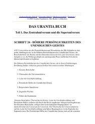 Schrift 24 - Höhere Persönlichkeiten des Unendlichen Geistes