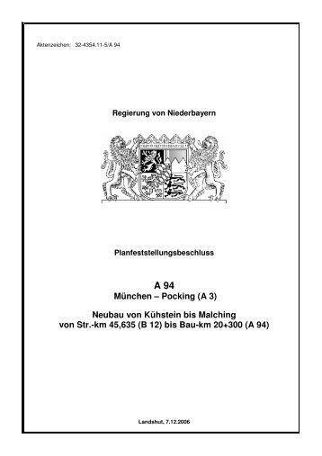 Planfeststellungsbeschluss - Die Regierung von Niederbayern