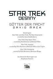 Leseprobe: Band 1: Götter der Nacht (pdf) - Star Trek Romane