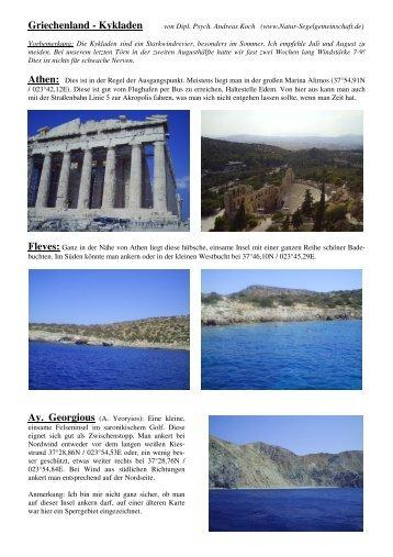 Toernfuehrer Griechenland - Kykladen - Natur-Segelgemeinschaft.de