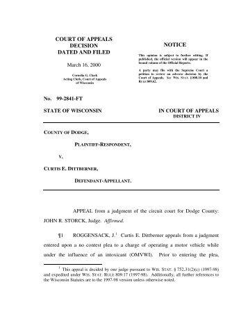 County of Dodge v. Curtis E. Dittberner - Justia