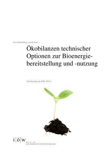 Schriftenreihe des IÖW 203/13 (pdf) - Institut für ökologische ...