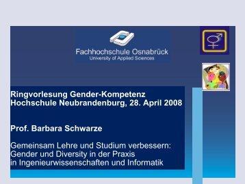 Gender und Diversity - Hochschule Neubrandenburg