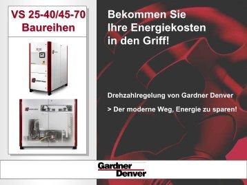 Energie sparen mit Gardner Denver und Unimatic GmbH