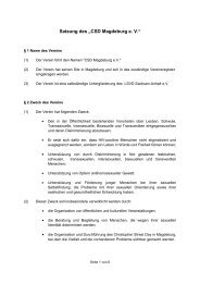 Satzung des CSD Magdeburg eV