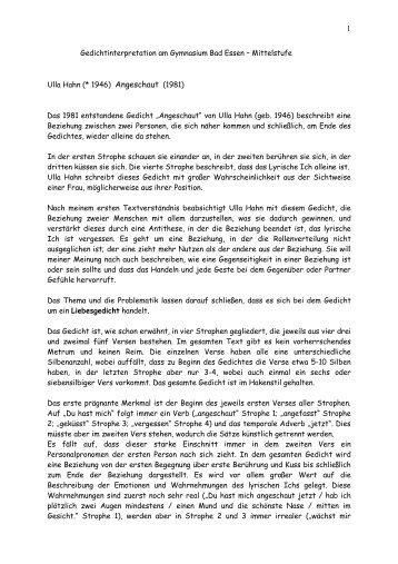 Interpretation Heinrich Heine Nachtgedanken Das Gedicht