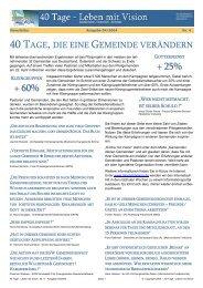 + 25% + 60% - Leben mit Vision