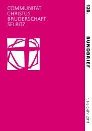 R UND B RIEF 12 0 . - Communität Christusbruderschaft Selbitz