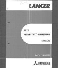 Lancer - 1977 - Werkstatt-Anleitung Karosserie.pdf - Mitsubishi ...