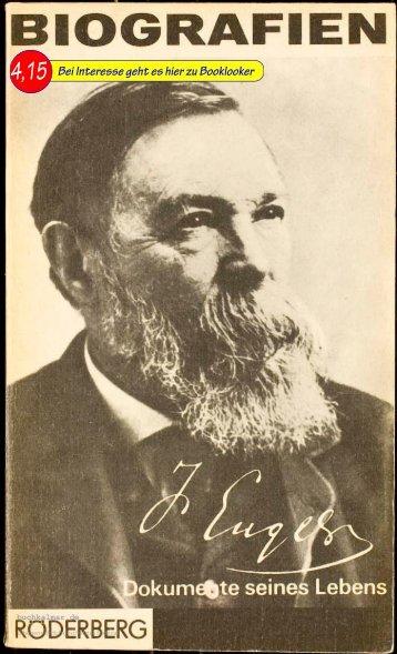 Manfred Kliem Friedrich Engels; Dokumente seines Lebens