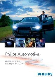 Philips Automotive Lighting - Preisliste 2013 - Elevite AG