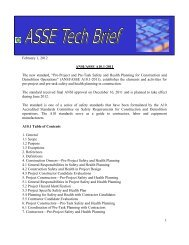 """1 February 1, 2012 ANSI/ASSE A10.1-2011 The new standard, """"Pre ..."""