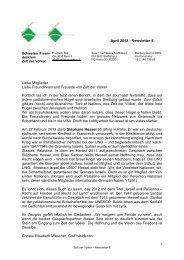 April 2013 - Newsletter 8 Liebe Mitglieder Liebe ... - Zelt der Völker
