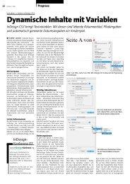 Dynamische Inhalte mit Variablen - Publisher