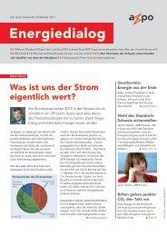 Energiedialog November 2011 - Axpo