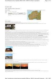 Page 1 of 11 Susi & Ruedi on tour; Australia 2006, Perth - Gibb ...