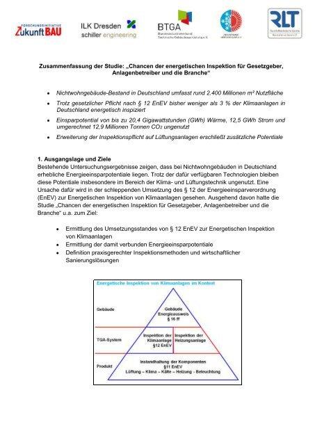 Chancen der energetischen Inspektion für Gesetzgeber ...