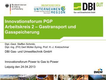 Innovationsforum PGP Arbeitskreis 2 – Gastransport und ...