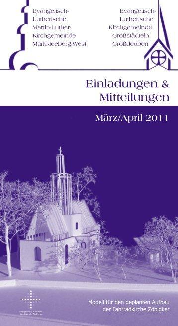 März/April 2011 - Martin-Luther-Kirchgemeinde Markkleeberg West