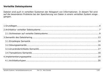 Verteilte Dateisysteme