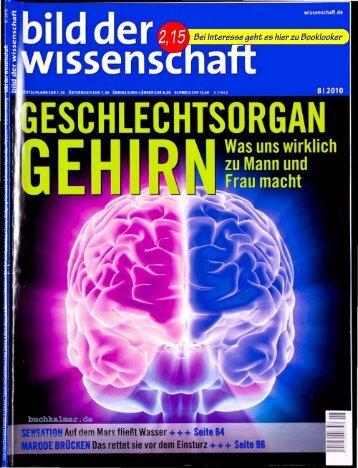 Zeitschrift bild der wissenschaft, 08.2010, Geschlechtsorgan Gehirn