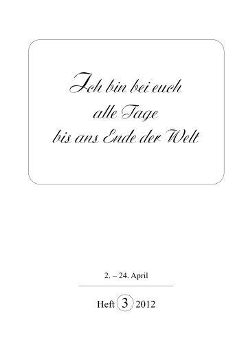 Heft 3-2012 - Herz-Verlag