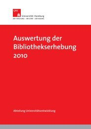 Bibliotheksstatistik 2010 - Universität Hamburg