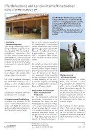 Landwirtschaft: Pferdehaltung auf Landwirtschaftsbetrieben - Amt für ...